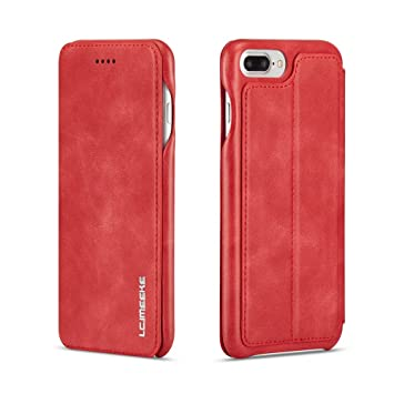 Funda iPhone 7 Plus, Funda iPhone 8 Plus ,COOSTOREEU Funda Avanzada PU de Cuero
