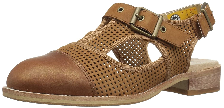 Caterpillar Women's Martine Sling Back Perforated Shoe Flat Sandal B01LN2JVNU 8 B(M) US|Brown Sugar