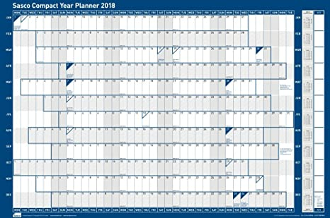 Sasco 2018 Compact Landscape Year Planner Kit, 610 x 405 mm ...