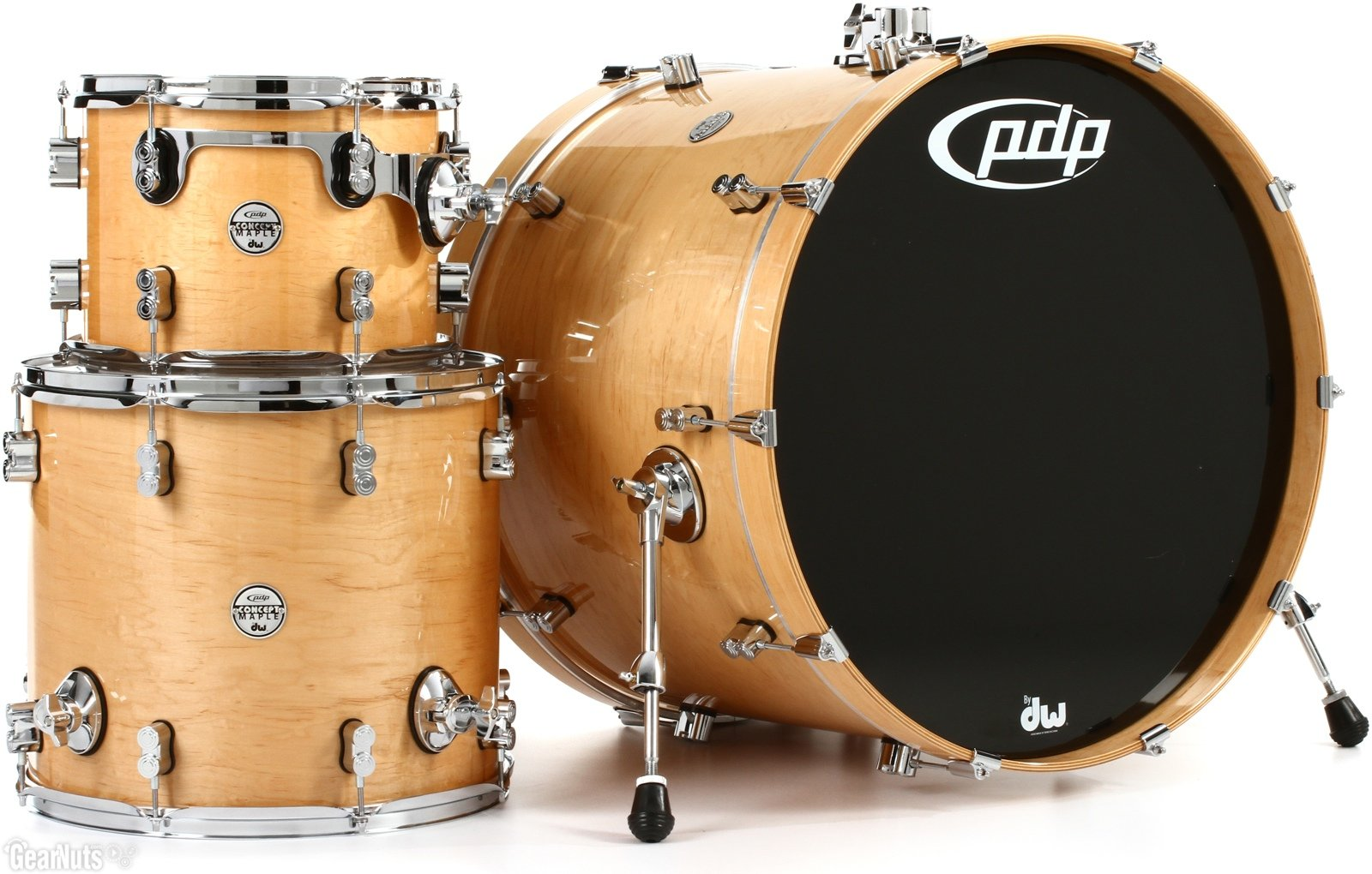 PDP Concept Maple 3-piece Shell Pack - Natural Lacquer