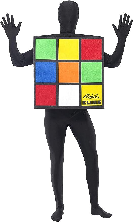 SmiffyS 33663 Disfraz Unisex Del RubikS Cube, Multicolor, Tamaño ...