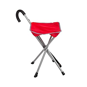 Miraculous Mac Sports Folding Cane Chair For Women And Men Walking Stick Stool Style Folding Cane Cane With Seat Quad Base Collapsible Folding Stools For Pabps2019 Chair Design Images Pabps2019Com