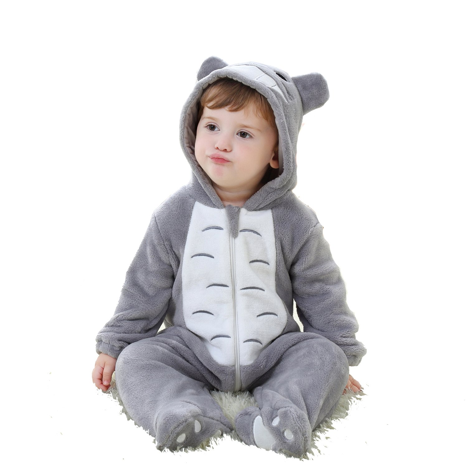 7049a397e CANDIDO Toddlers Pajamas Unisex Baby Cosplay Animal Onesie Romper ...