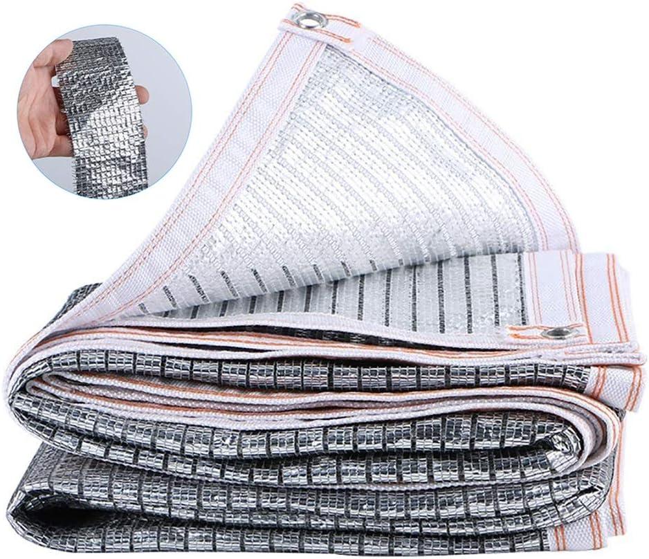 Red de Sombra Tela Reflectante Plateada De Aluminio For La Cortina del Papel De Aluminio con Ojales, Lona De Malla Resistente A Los Rayos UV Al Aire Libre del 99% For Plantas