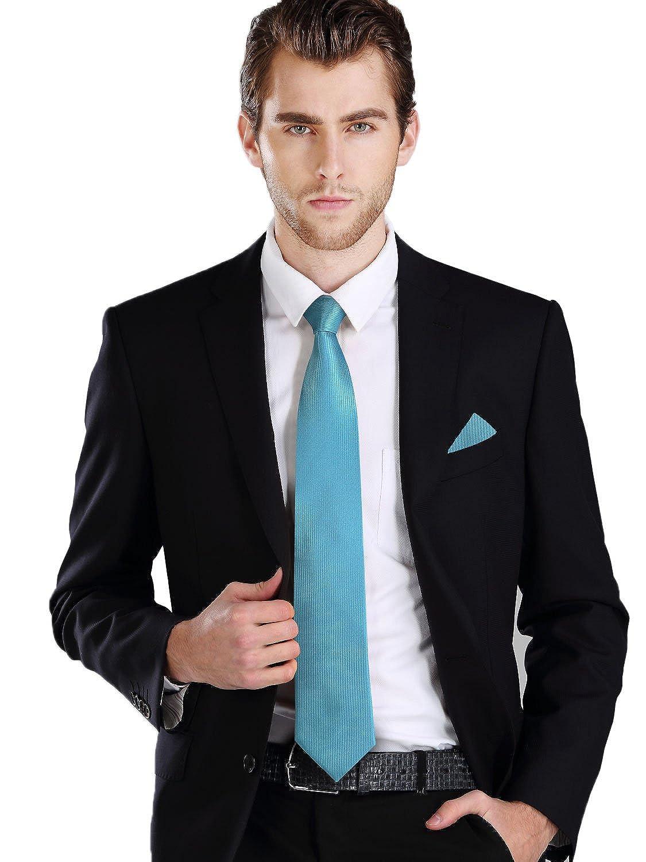 Landisun Skinny Tie Silk Tie Satin Slim Necktie Exclusive