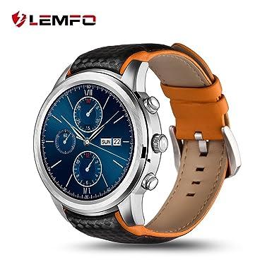 Lemfo 3 G Reloj Inteligente Android 5.1 ROM 16 G Nano SIM WIFI GPS pulsómetro podómetro
