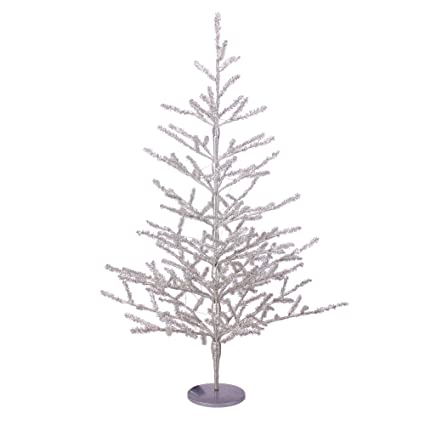 Northlight 3' Pre-Lit Silver Tinsel Twig Artificial Christmas Tree - Clear  LED Lights - Amazon.com: Northlight 3' Pre-Lit Silver Tinsel Twig Artificial
