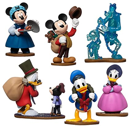 Scrooge Mcduck Christmas.Disney Store Mickey S Charles Dickens Inspired Christmas Carol Figurine Playset 6 Piece Figure Play Set Special Edition