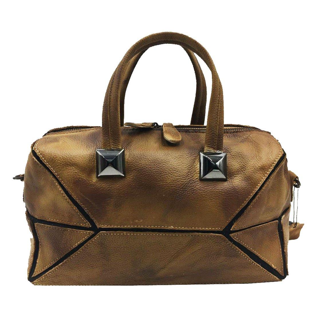 Heshe Vintage Women s Leather Handbags Shoulder Bags Totes Purses Ladies  Designer Cross Body Bag 7025af448c28a