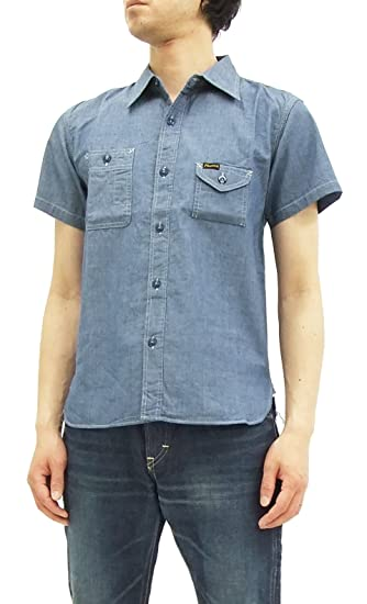 c9e58ba165 Pherrow s Chambray Shirt Men s Short Sleeve Work Shirt 750WSS-SS at ...