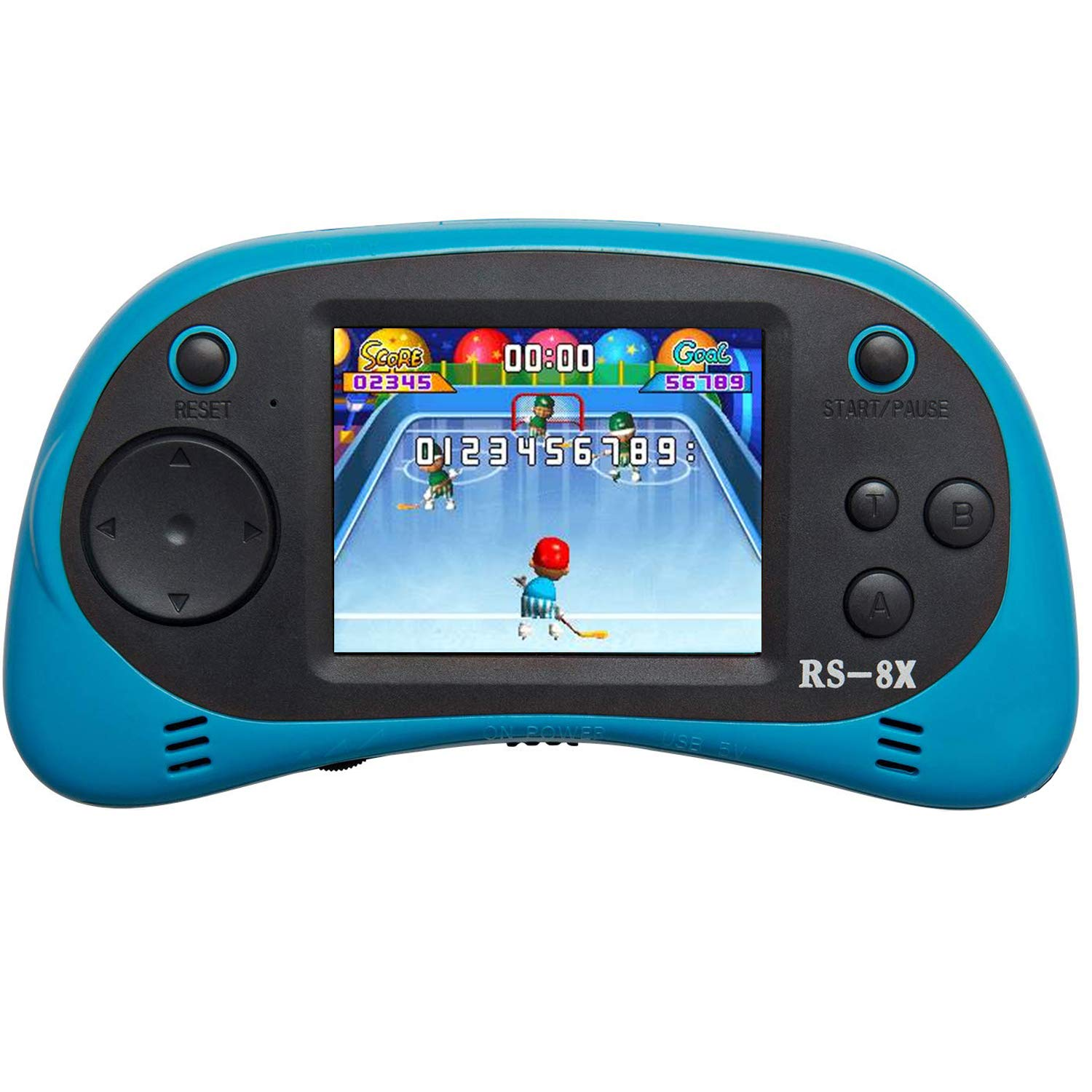 ShinyBoy Retro 16-Bit Handheld Games SB-8X Portable Classic Game Controller Built-in HD Arcade Video Games2.5'' TFT Screen Support AV Output Family Recreation Gaming System for Kids Adults -BLUE by ShinyBoy