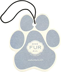 One Fur All Pet House Car Air Freshener by, Pack of 4 – Sunwashed Cotton - Non-Toxic Air Freshener, Pet Odor Eliminating Air Freshener for Car, Ideal for Small Spaces, Dye Free Dog Car Air Freshener