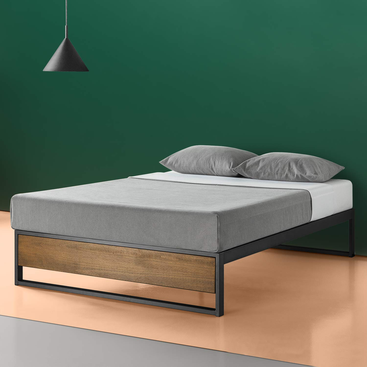 Zinus Suzanne 14 Inch Platform Bed without Headboard, Twin