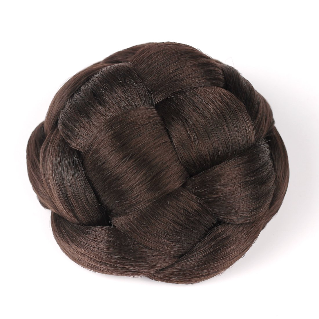 Smilco Braid Fake Hair Bun Hairpiece Extension for Women Short Hair (Brown) by Smilco