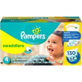 Pampers Swaddlers Diapers, Size 4 (22-37 lbs.), 128 ct.
