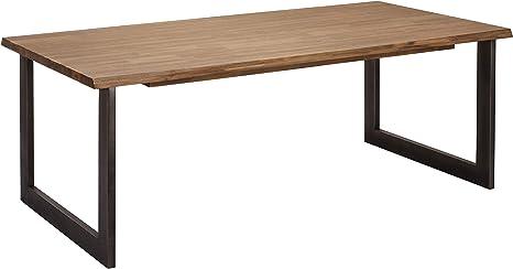 Ibbe Design Rectangular Extending Dining Table 180 X 90 Cm Natural Tree Edge Solid Acacia Wood Dining Room Table Mallorca 180 X 90 X 75 Cm Amazon De Kuche Haushalt