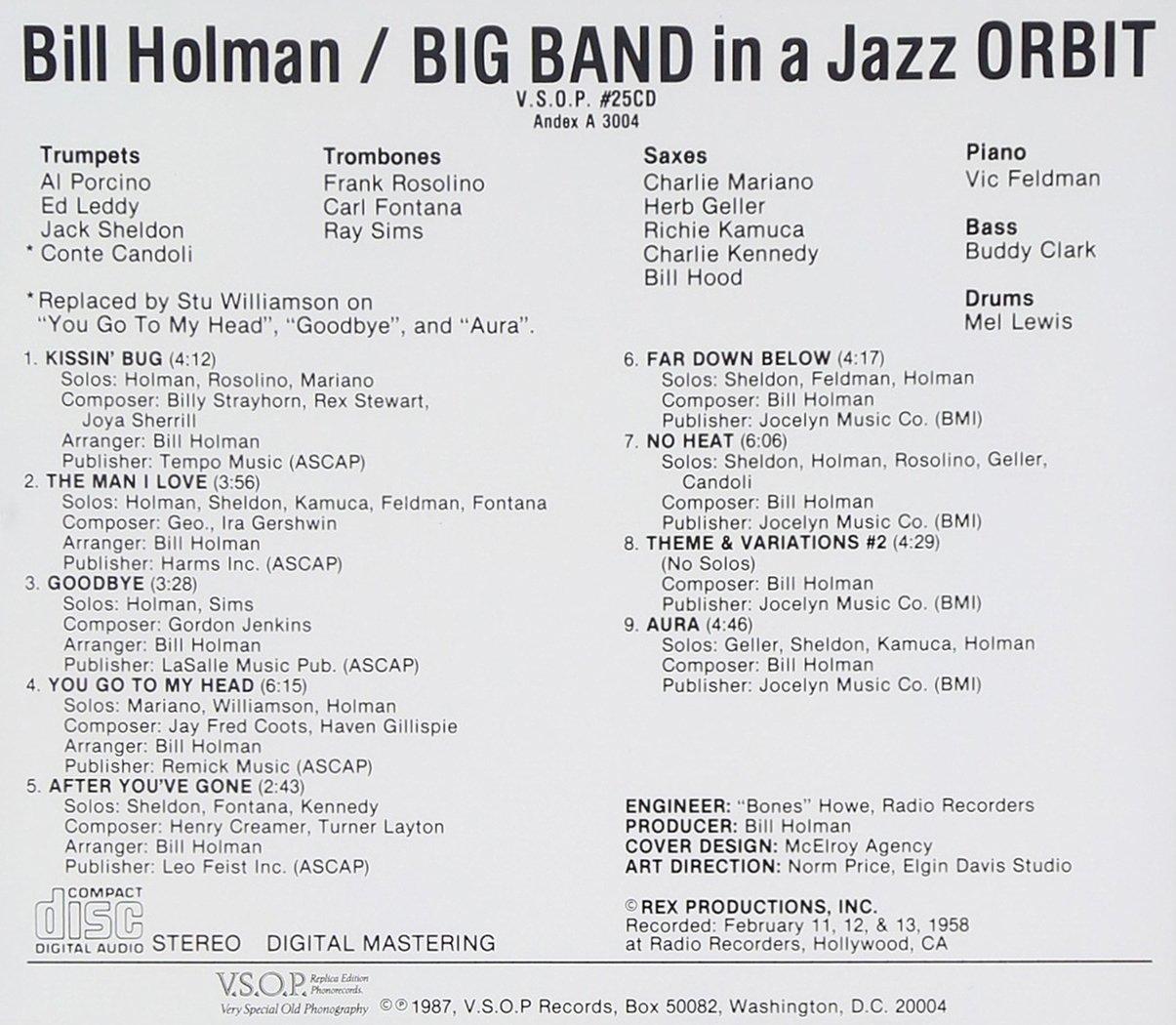 bill holman in a jazz orbit com music