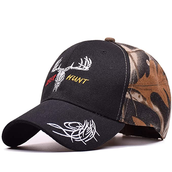 2019 New Deer Hunter Baseball Cap Elk Hunter Army Cap Elk Embroidery Gorras Hats Rock Men