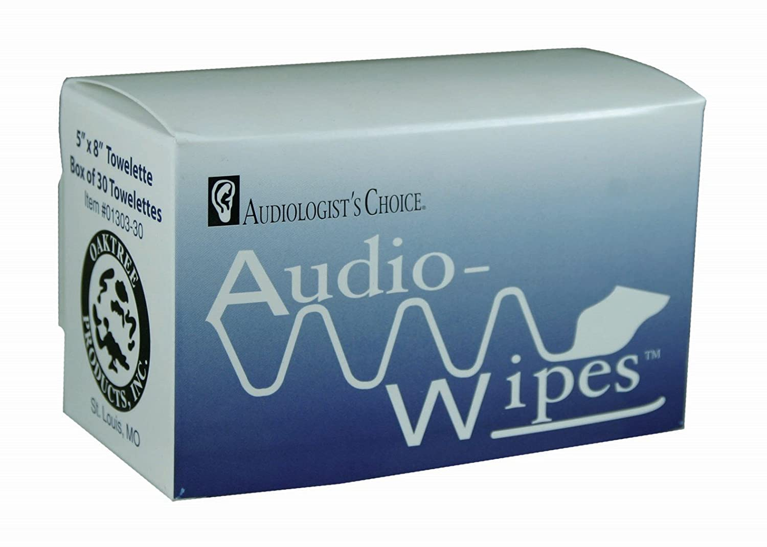 AudioWipes Individually Packaged Towelettes - Box of 30 Audiologist' s Choice LHS-01303-30