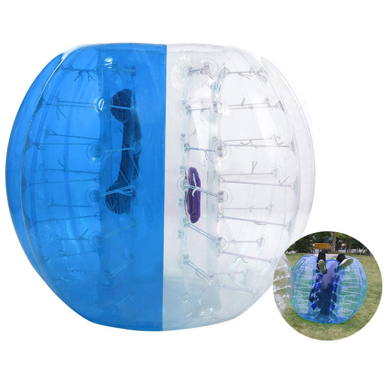 インフレータブルバンパーボールバブルサッカーボールDia 4 /5 ' (1.2 /1.5 M) Zorb Ball Humanハムスターボールの大人と子供 B07BGVBVGP 5 FT|ブルー ブルー 5 FT