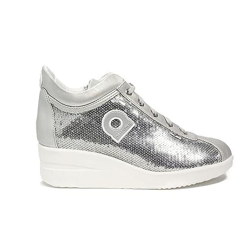 b7f44b60a776a Rucoline 0226-83032 226 A DORA STAR sneaker con pailettes color argento  nuova collezione primavera estate 2017  Amazon.it  Scarpe e borse