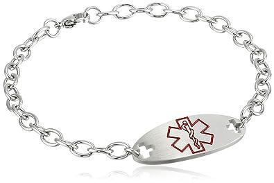 Allergic to Penicillin Medical Alert Stainless Steel Bracelet tQCAhV98