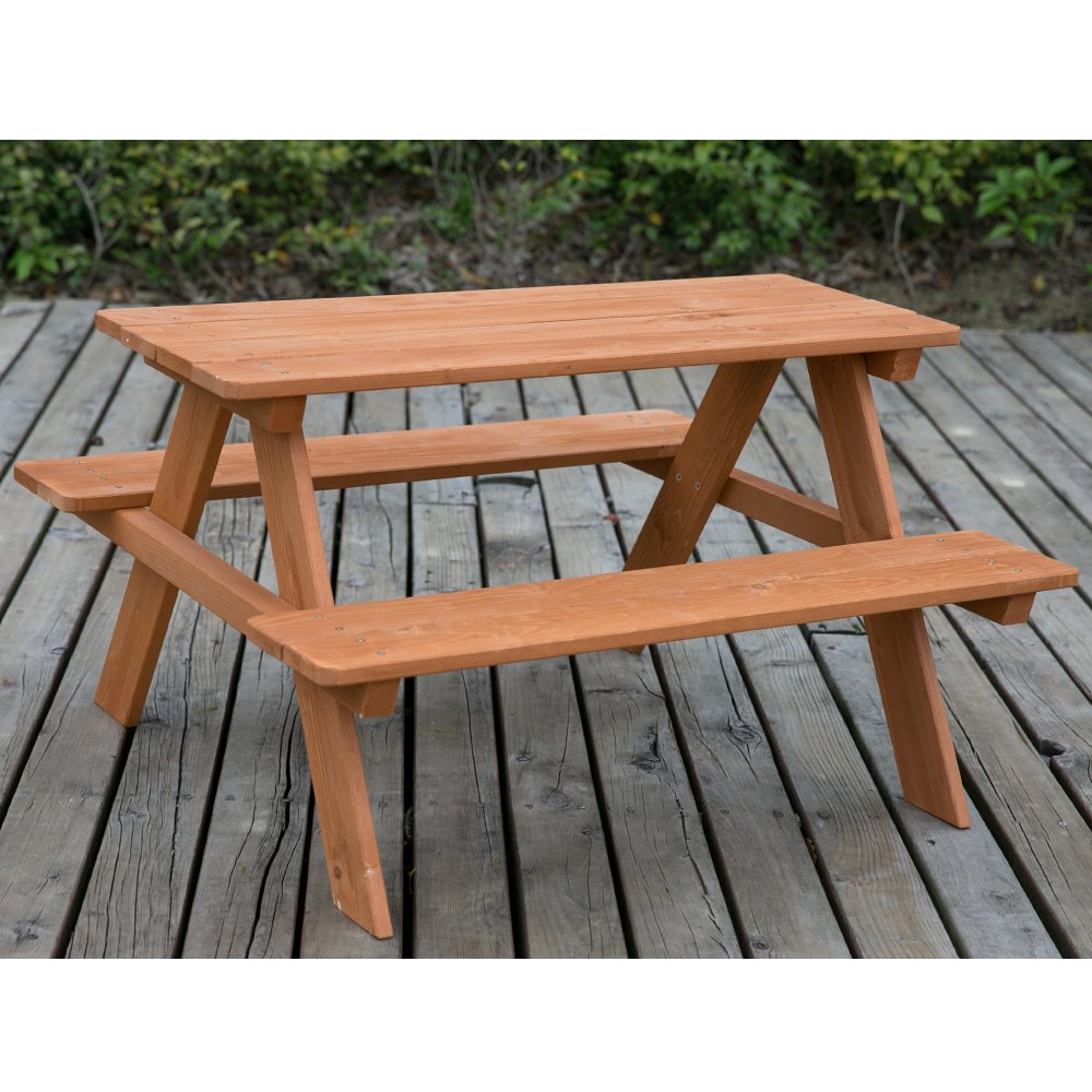 Phenomenal Leisure Zone Kids Childrens 4 Seater Picnic Table Wood Picnic Bench For Gardens Parks Schools And Pubs Indoor Outdoor Heavy Duty Timber Customarchery Wood Chair Design Ideas Customarcherynet