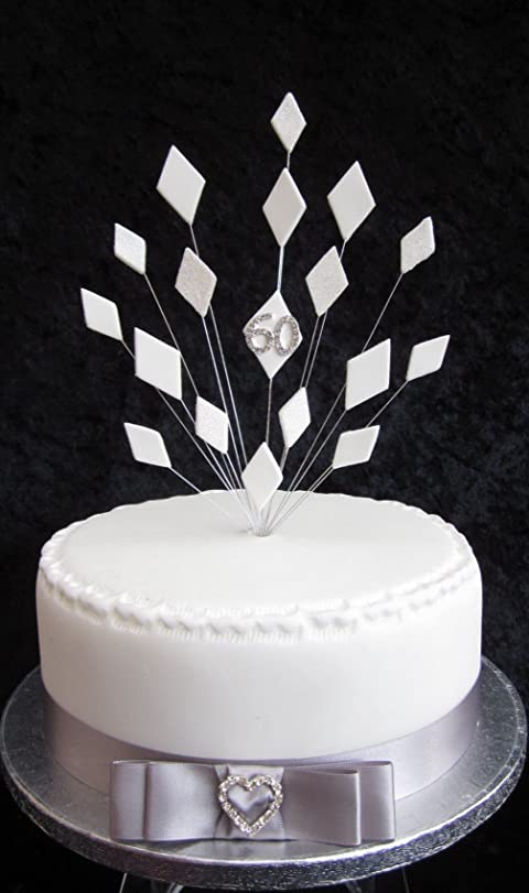 60th Diamond Wedding Anniversary Cake Topper Suitable For A 20cm ...