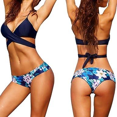 6599485719c66 Amazon.com  Gocheaper Sexy Women Bikini Set Swimwear Push-Up Padded Bra  Swimsuit Beachwear(New)  Clothing