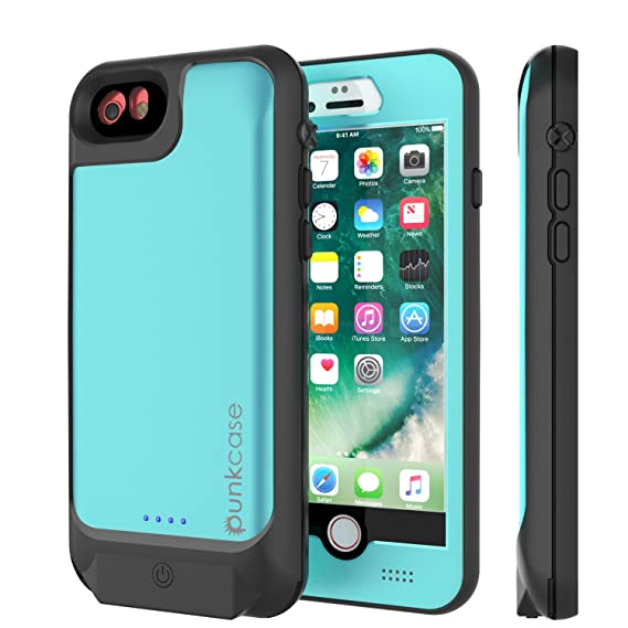 huge discount bd056 7adf2 Punkjuice iPhone 8/7/6s/6 Battery Case - Waterproof Slim Portable Power  Juice Bank W/ 3000mAh High Capacity - Fastcharging - 120% Extra Battery  Life ...