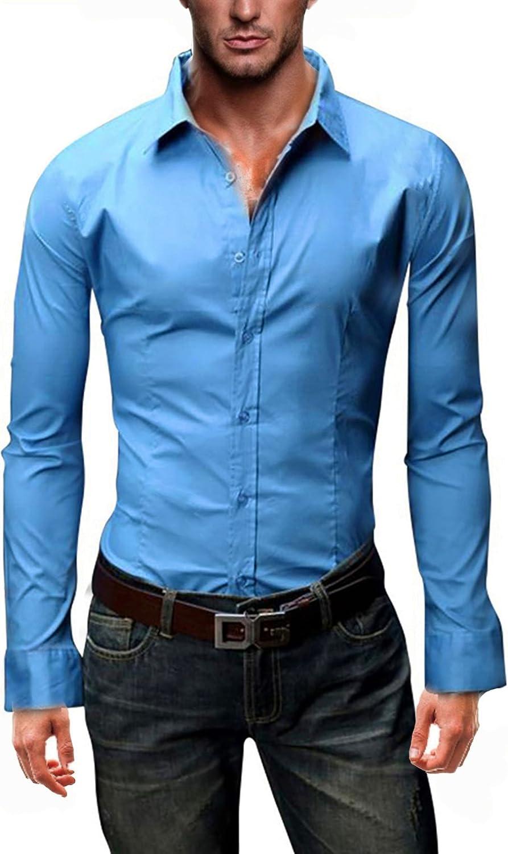 6XL Modello Uni Kayhan Originale Uomo Camicia Slim Fit Facile Stiro Cotone Maniche Lungo S M L XL XXL 2XL