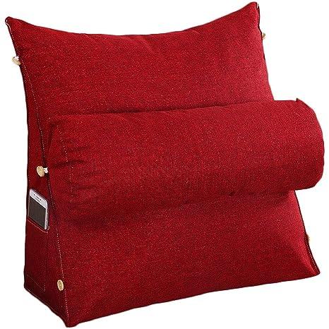 VERCART cojín de lectura almohada con almohada cilíndrica ...