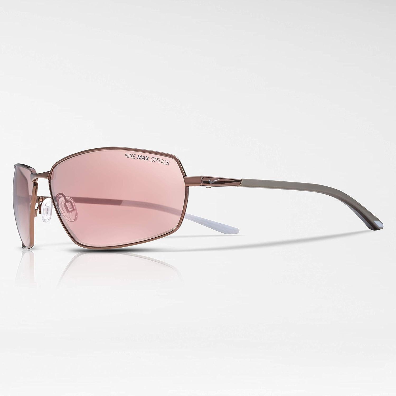 dfb89c75341 Amazon.com  Nike Men s Pivot Eight E Rectangular Sunglasses Shiny WALNUT 63  mm  Clothing