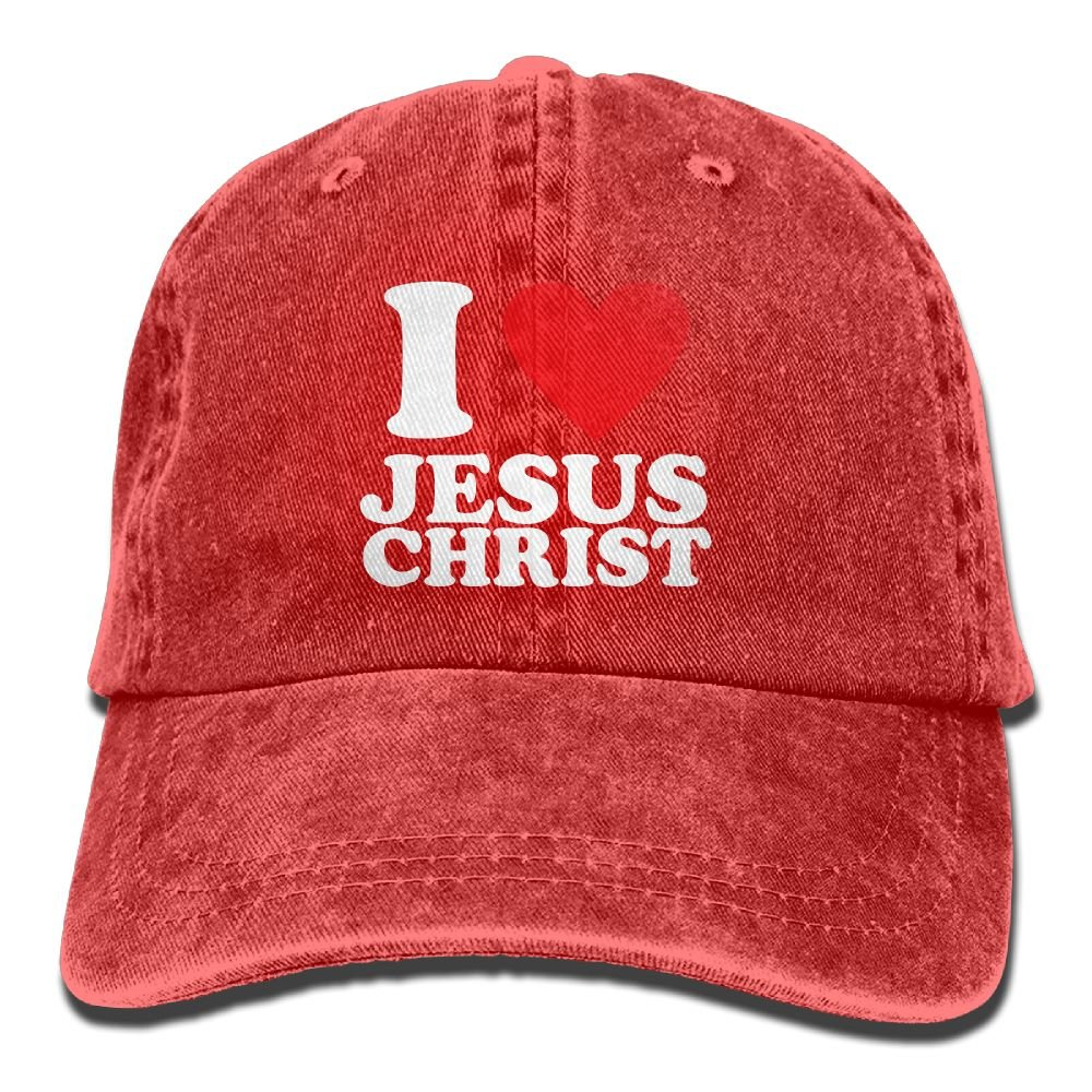 MANMESH HATT I Love Jesus Unisex Adult Adjustable Cowboy Dad Hats