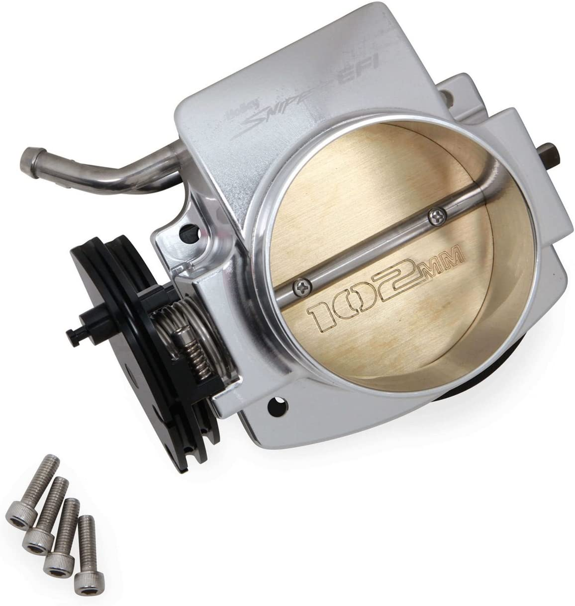 Holley 860002-1 Sniper EFI Throttle Body 102 mm Billet Aluminum Silver Sniper EFI Throttle Body 71fTrbS2BPtLSL1500_