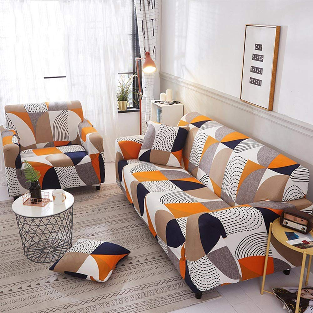 Centeraly Sofa Cover Non-Slip Slipcover Elastic Four Season Printed All-Inclusive Stretch Dustproof Sofa Cushion Washable Sofa Towel