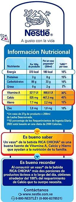 Rica Chicha Drink Mix Venezuelan Flavor 400gr