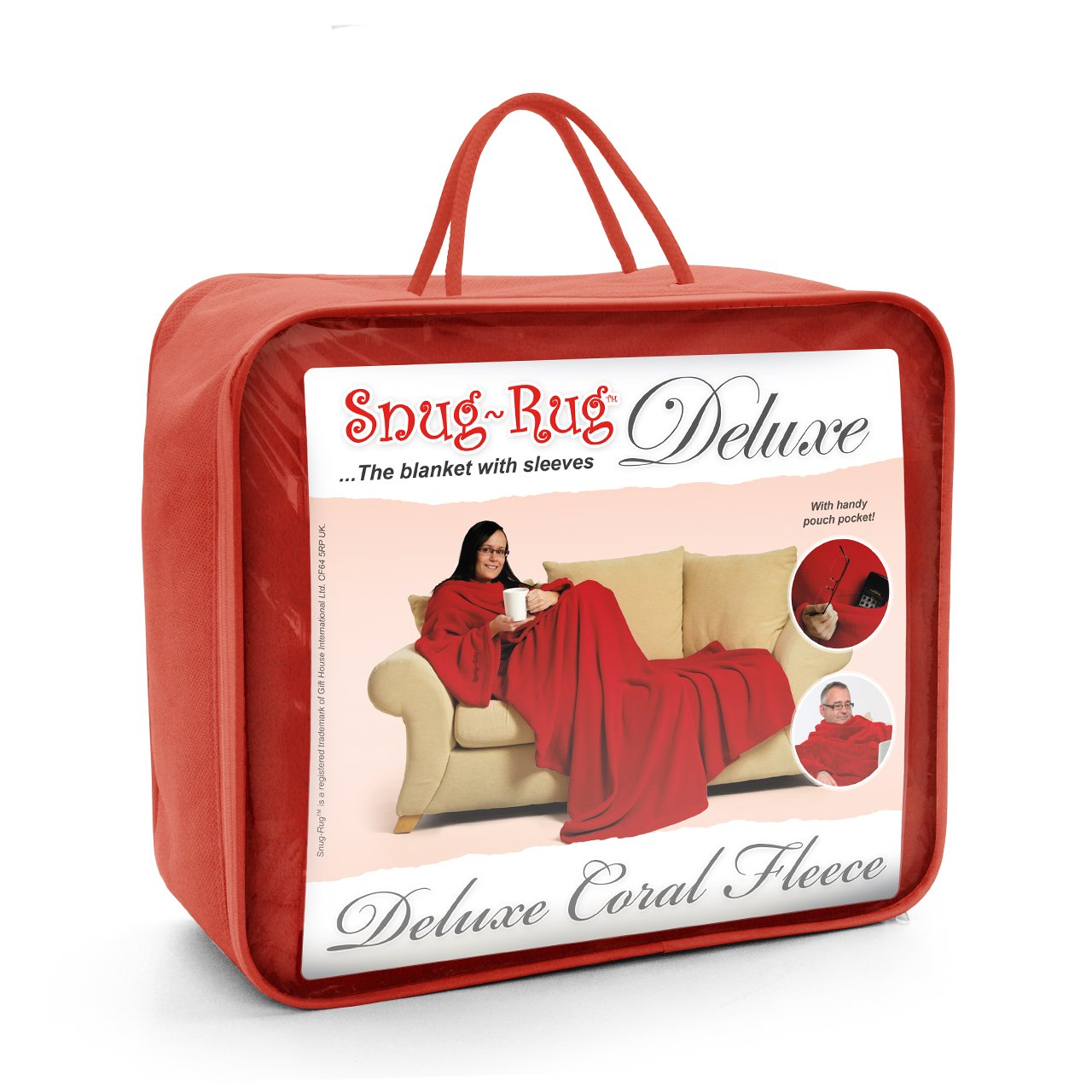 Gift House Snug Rug Deluxe Couverture polaire Rouge Gift House International GH-SRA9