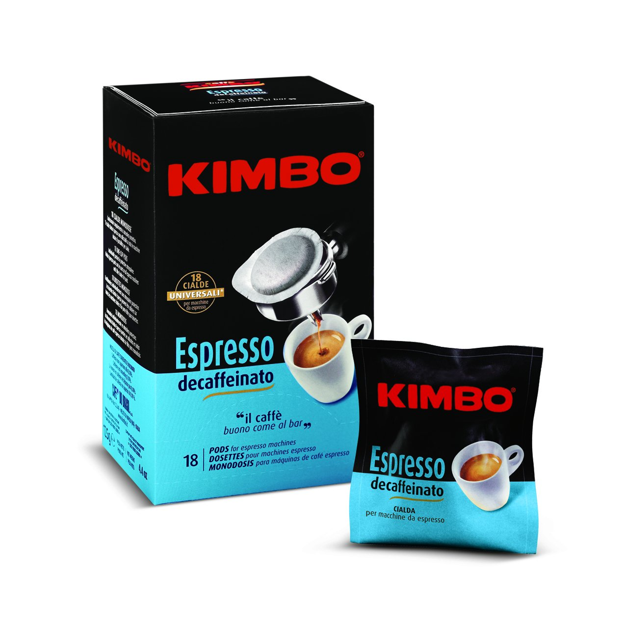 Amazon.com : Kimbo Espresso Decaf Coffee, 18 Pods : Grocery & Gourmet Food