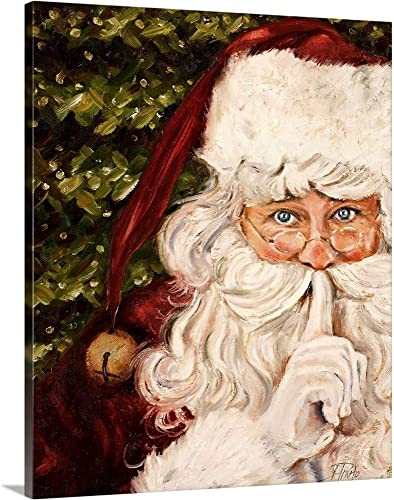 Secret Santa Canvas Wall Art Print