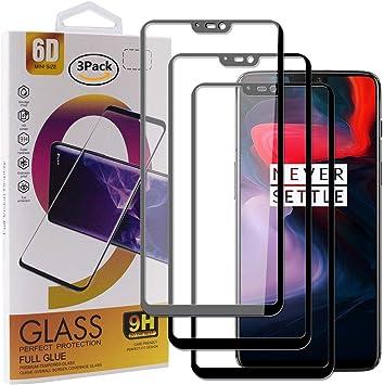 Guran [3 Paquete Protector de Pantalla para Oneplus 6 Smartphone Cobertura Completa Protección 9H Dureza Alta Definicion Vidrio Templado Película: Amazon.es: Electrónica