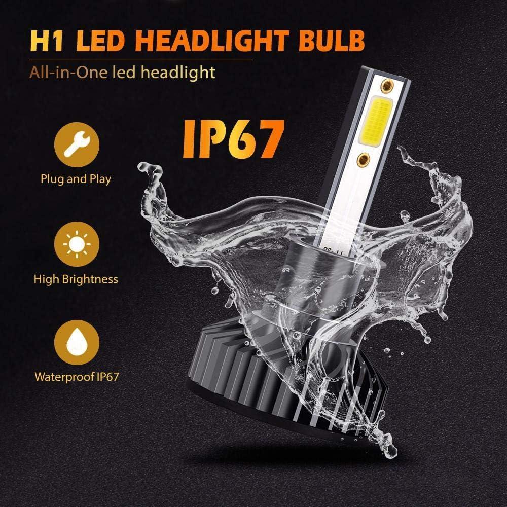 Anti Erreur 6500K Conception Tout-en-Un /étanche IP67 EMC Compatible Lesgos Phares pour Voiture et Moto 72W 8000LM 2Pcs Ampoules H7 LED Super Blanc
