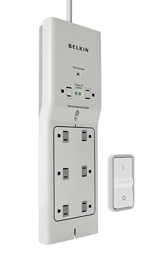 amazon com belkin 8 outlet conserve switch surge protector with 4 rh amazon com