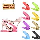 8pezzi creativo durevole scarpiera salvaspazio plastica shoe organizer, scarpe salvaspazio Holder shoe rack (Mixed Color)