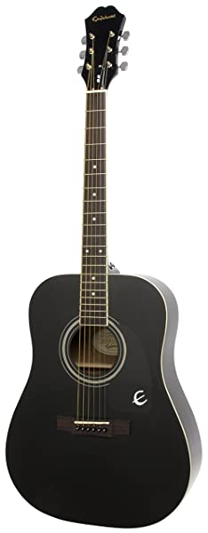 front facing epiphone dr-100 acoustic guitar