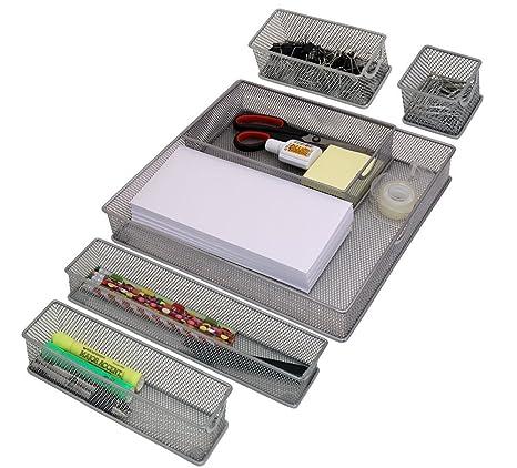 Set Of 6 Mesh Drawer Storage Bins   Kitchen Storage