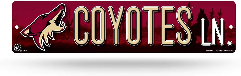 Rico Industries Nhl 16 Inch Plastic Street Sign Décor Arizona Coyotes Sport Freizeit