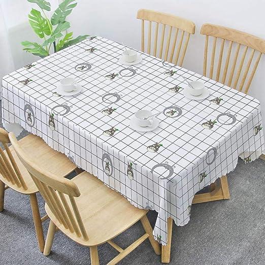 AdorabTable Manteles Mantel de Mesa Tablecloths Ins Mantel Rectangular Nórdico de Algodón y Lino Impermeable y Resistente Al Aceite Tela Gruesa Mantel Cuadrado Blanco 135X220CM: Amazon.es: Hogar
