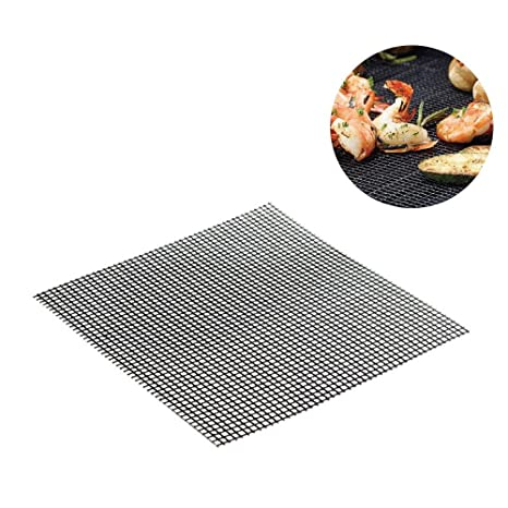 Aolvo - Alfombrilla de malla para barbacoa, antiadherente, para cocinar y hornear reutilizable,