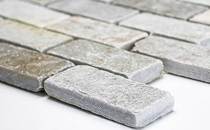 Lampada a mosaico mosaico piastrelle brick con quarzite colore